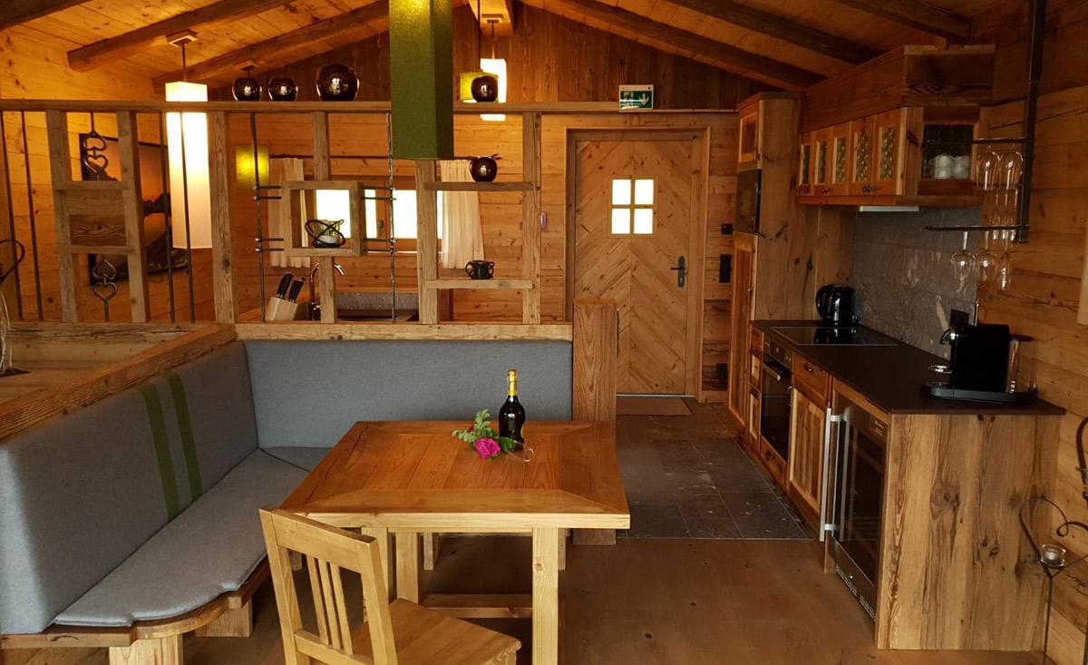 Sala da pranzo coccolosa Chalet Kaiserin
