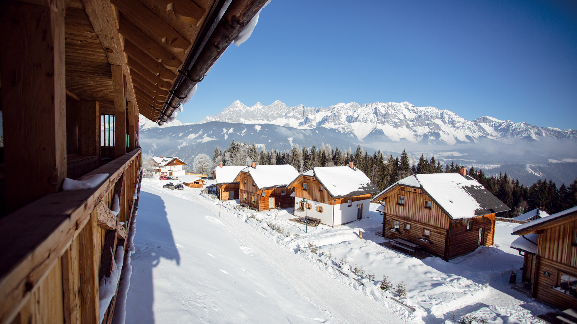 ski vacation chalet slope