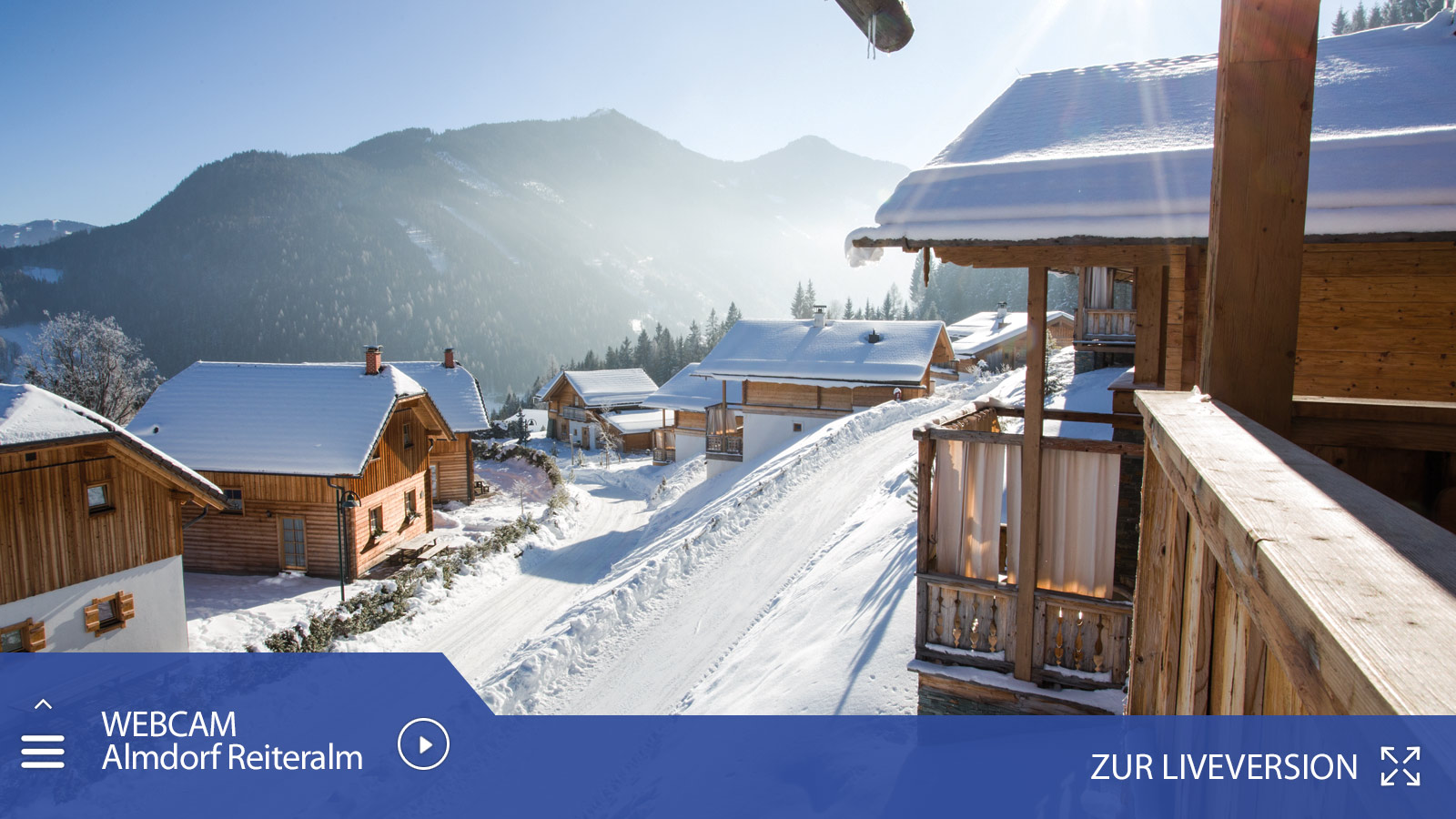 Live webcam Almdorf Reiteralm - chalets and huts in Schladming