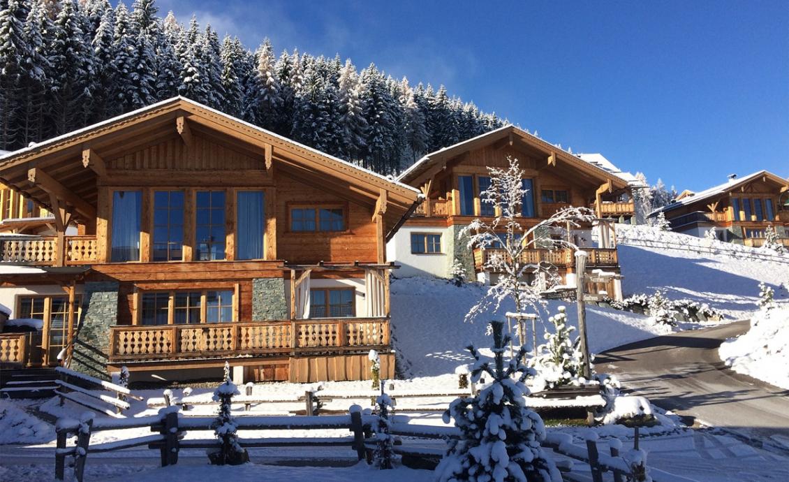 Começo do inverno da estação de esqui 2017 / 2018 em Almdorf Reiteralm.